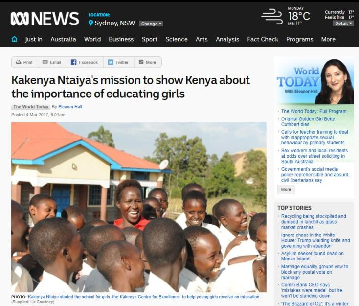 From classroom to Kenya